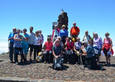 Le groupe 1 au sommet di Pico Ruevo